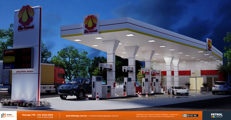 projeto postode gasolina Auto Parana PR