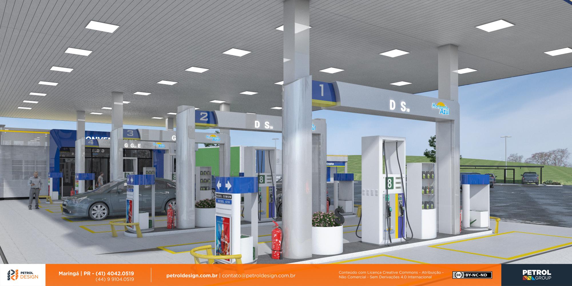 design de posto de combustivel Serra ES