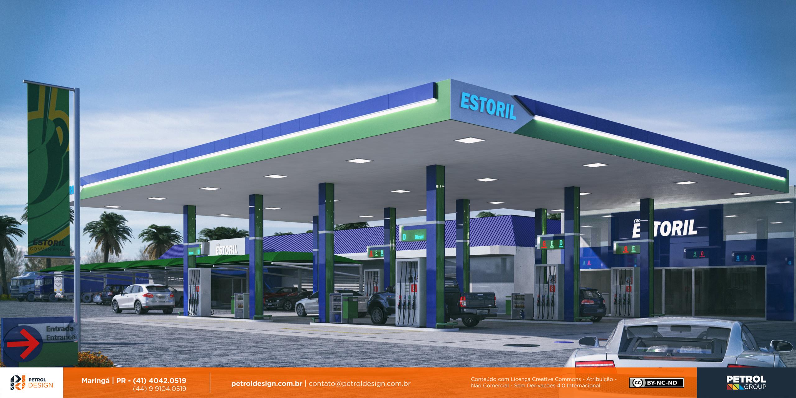 imagem 3d posto de gasolina Navirai MS
