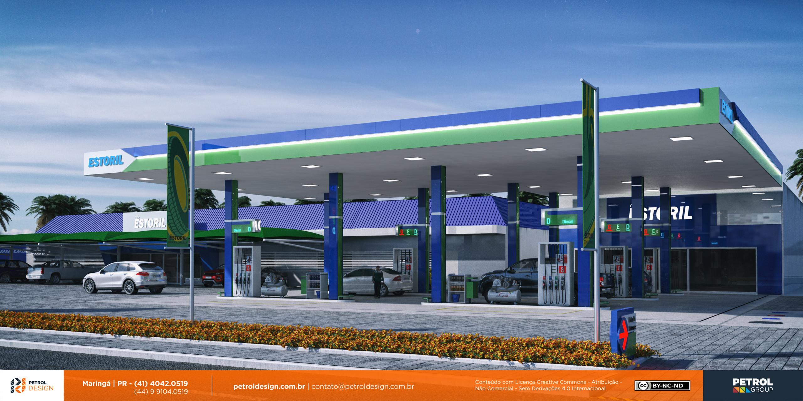 imagem 3d posto de combustivel Ponta Pora MS