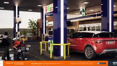 design projeto visual posto de gasolina Cambe PR