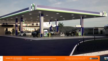 comunicação visual posto de combustivel Almirante Tamandare PR