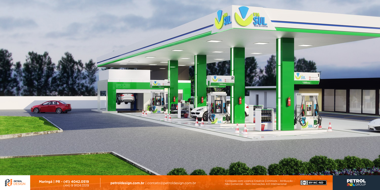imagem de posto de combustivel bandeira branca Ipatinga MG
