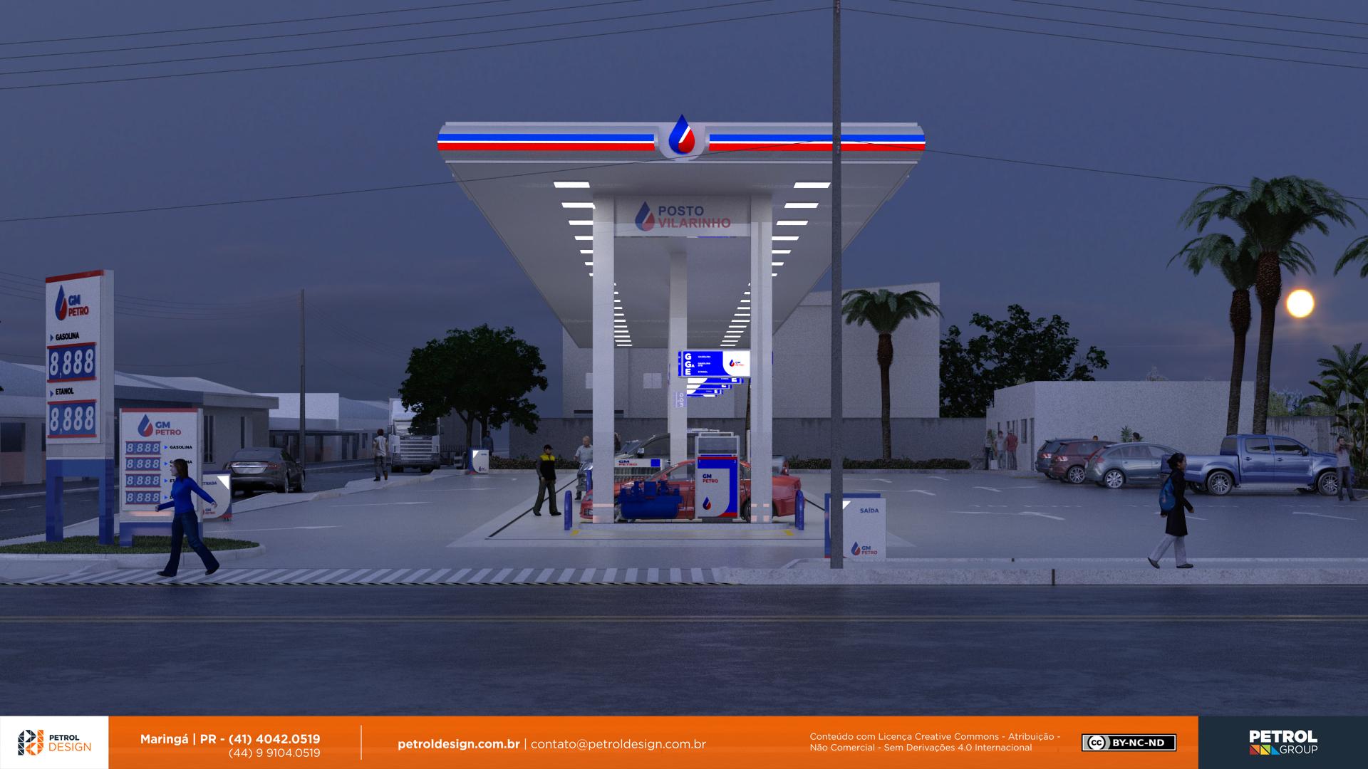 logo e identidade visual posto de gasolina Sete Lagoas MG
