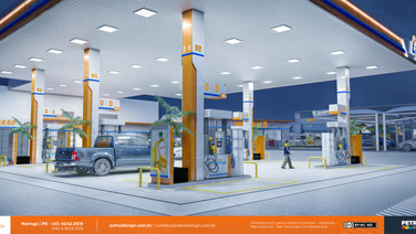 imagem de posto de gasolina bandeira branca Balneario Camburiu SC