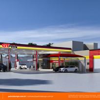 Fachada posto de gasolina em Paranavaí -