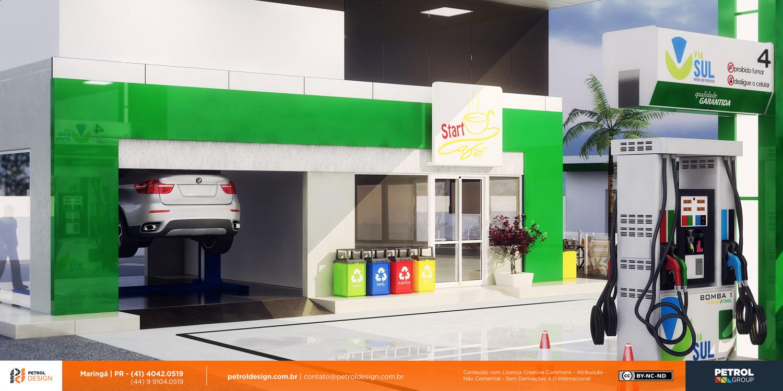 imagem de fachada loja de conveniencia posto de combustivel Divinopolis MG