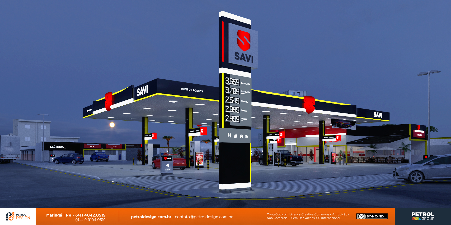 fachada para posto de gasolina Campo Grande - MS