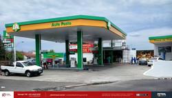 Fachada de posto de combustível