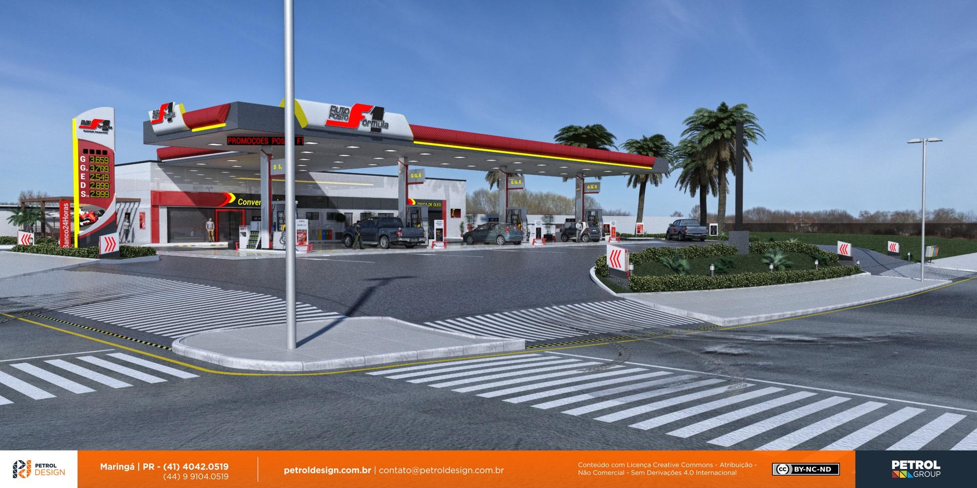 nova imagem comunicação visual posto de gasolina Lauro de Freitas BA