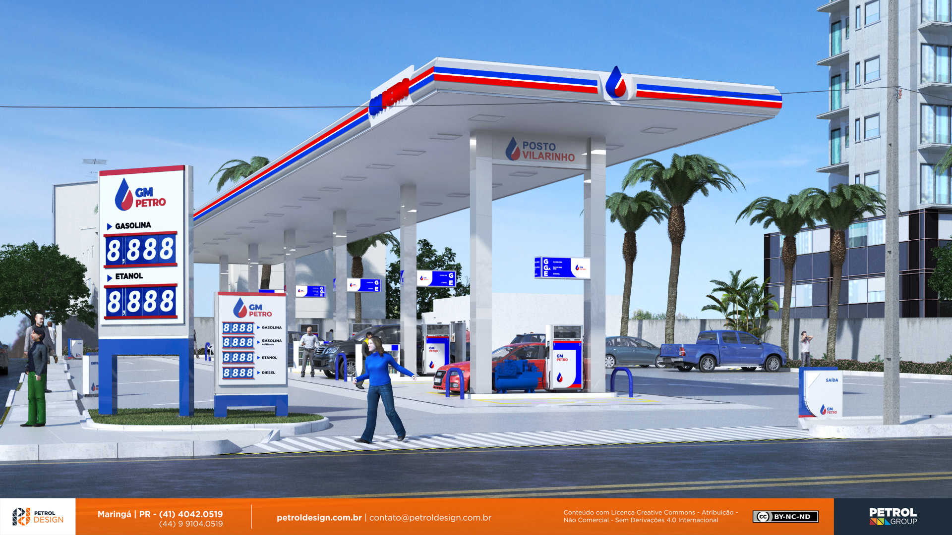 identidadevisual posto de gasolina Ribeirao das Neves MG