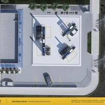 layout para posto de gasolina Goiânia GO