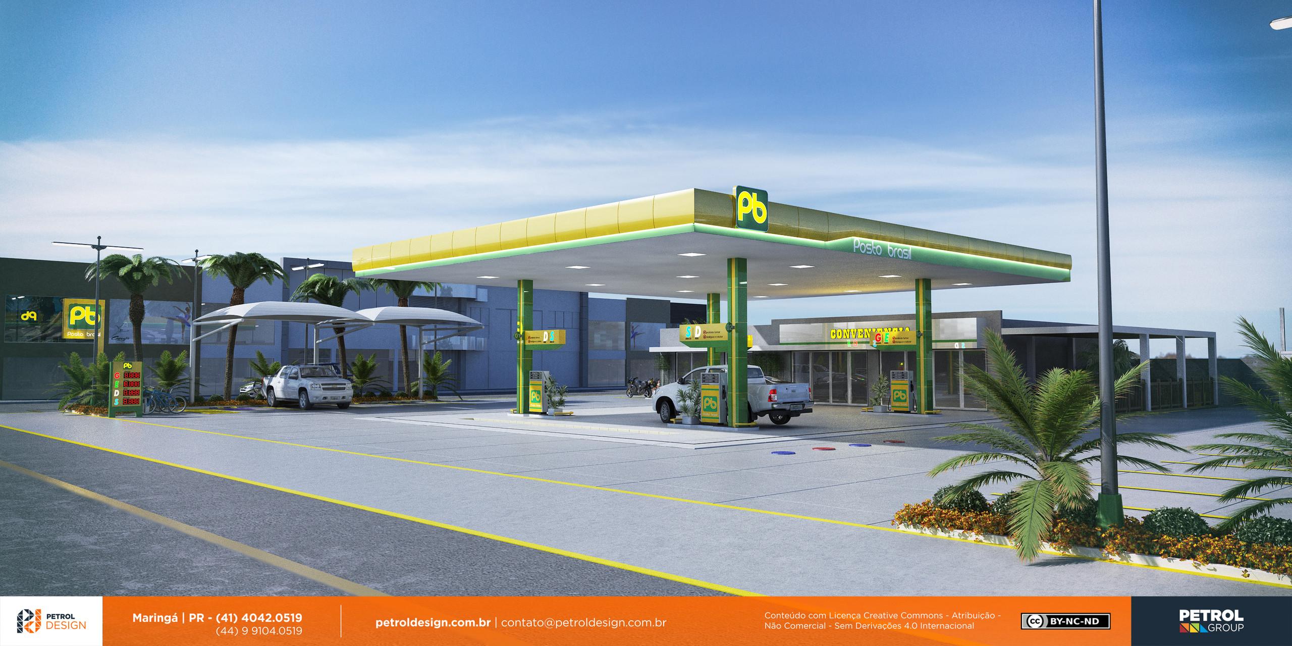 layout posto de gasolina Uberaba SP