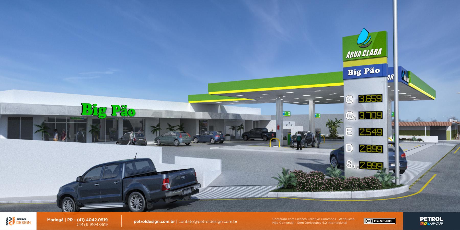 projeto posto de gasolina Uberaba MG