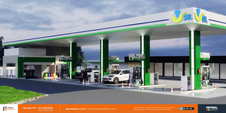 imagem de fachada loja de conveniencia posto de gasolina Sete Lagoas MG
