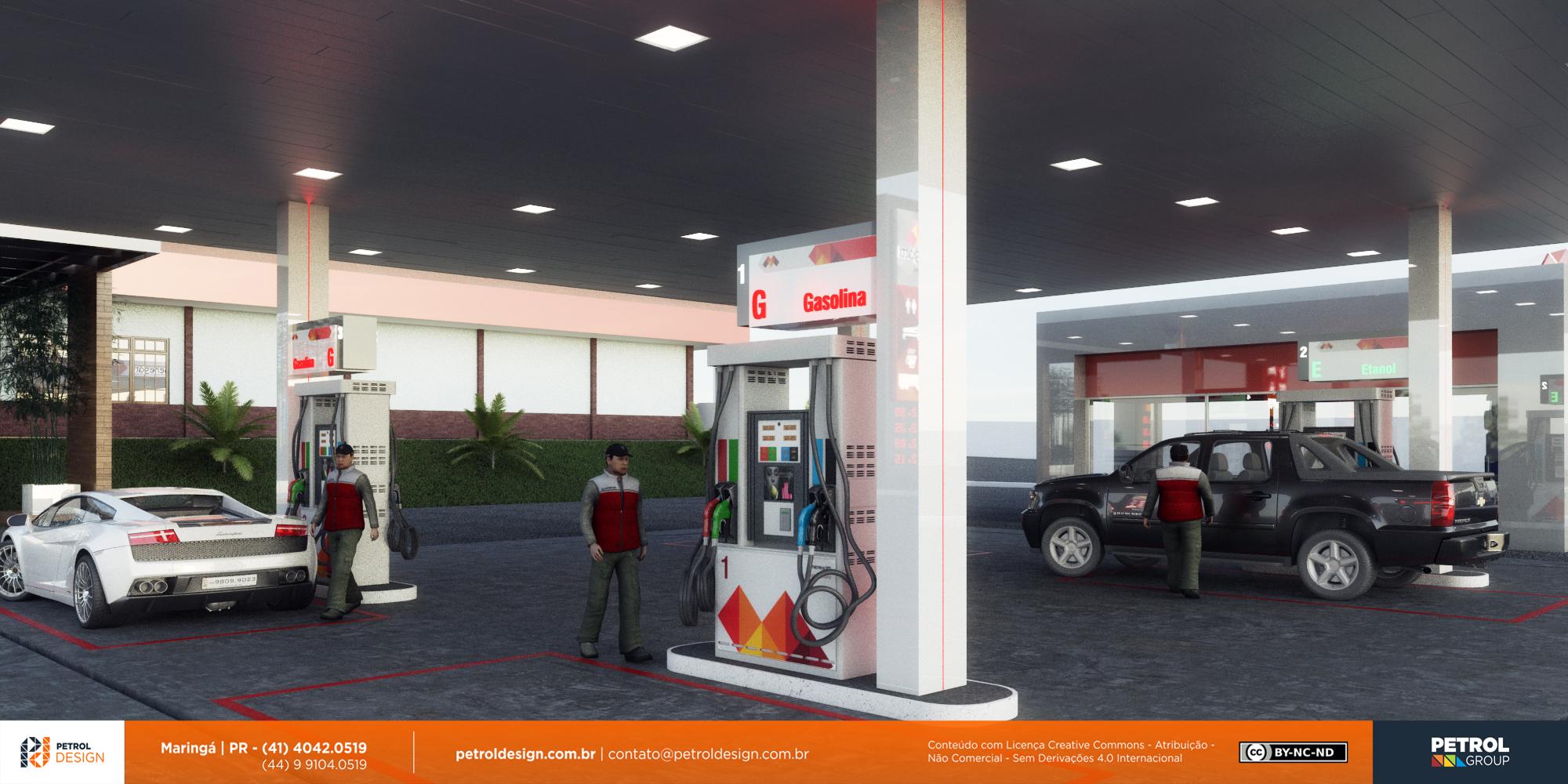 projeto identidade visual posto de gasolina Senador Canedo GO