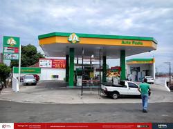 Identidade de posto de Gasolina J.A.