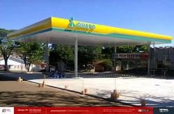 Fachada de posto de gasolina