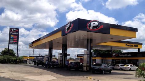 Placa de preço de posto de gasolina São José dos Campos SP
