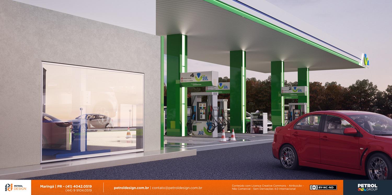imagem de abastecimento posto de gasolina futurista Ouro Preto MG