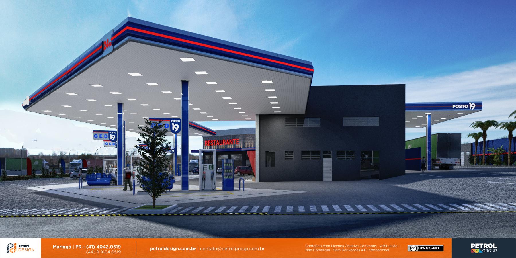 comunicação visual design posto de gasolina São Bernardo do Campo