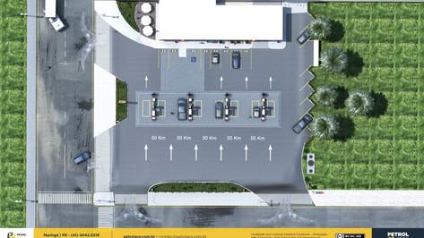 layout posto de gasolina Campinas SP