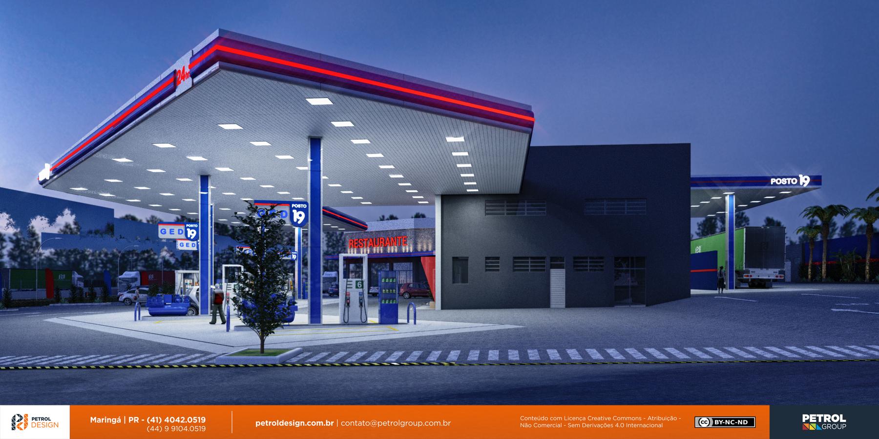 projeto comunicação visual posto de gasolina Jundiaí
