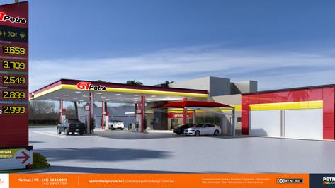 Fachada posto de gasolina em Paranavaí - PR