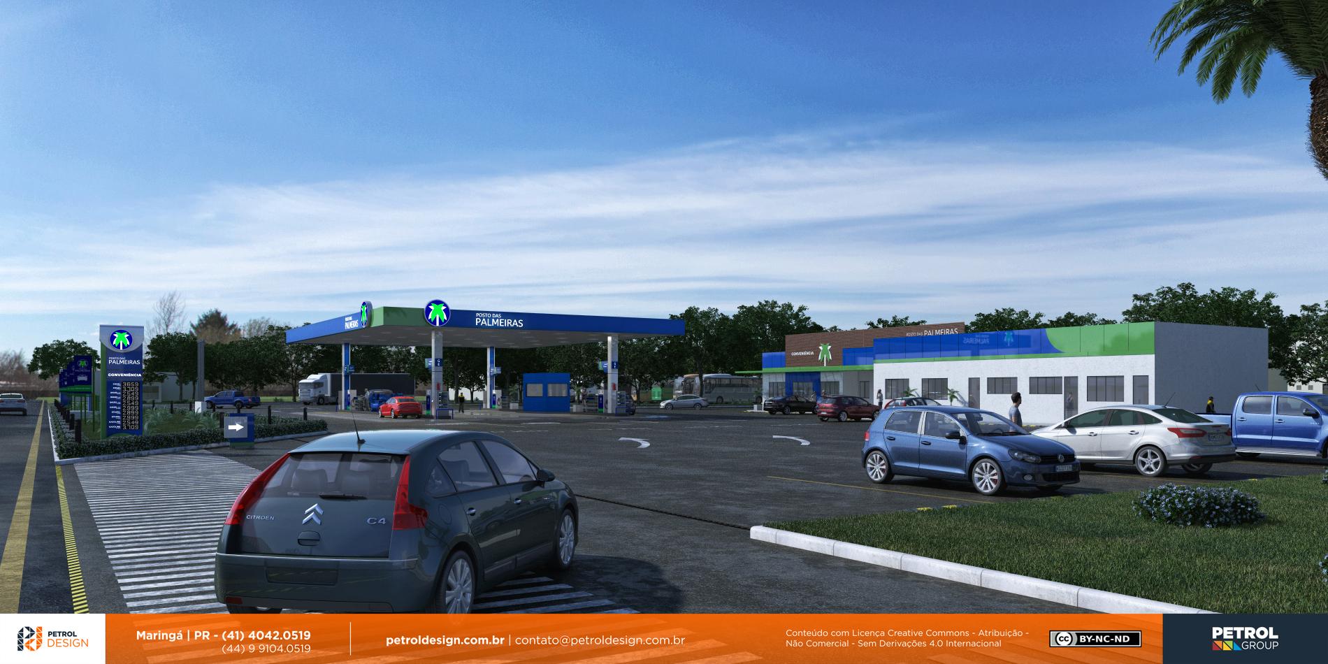 projeto de um posto de gasolina Britania GO