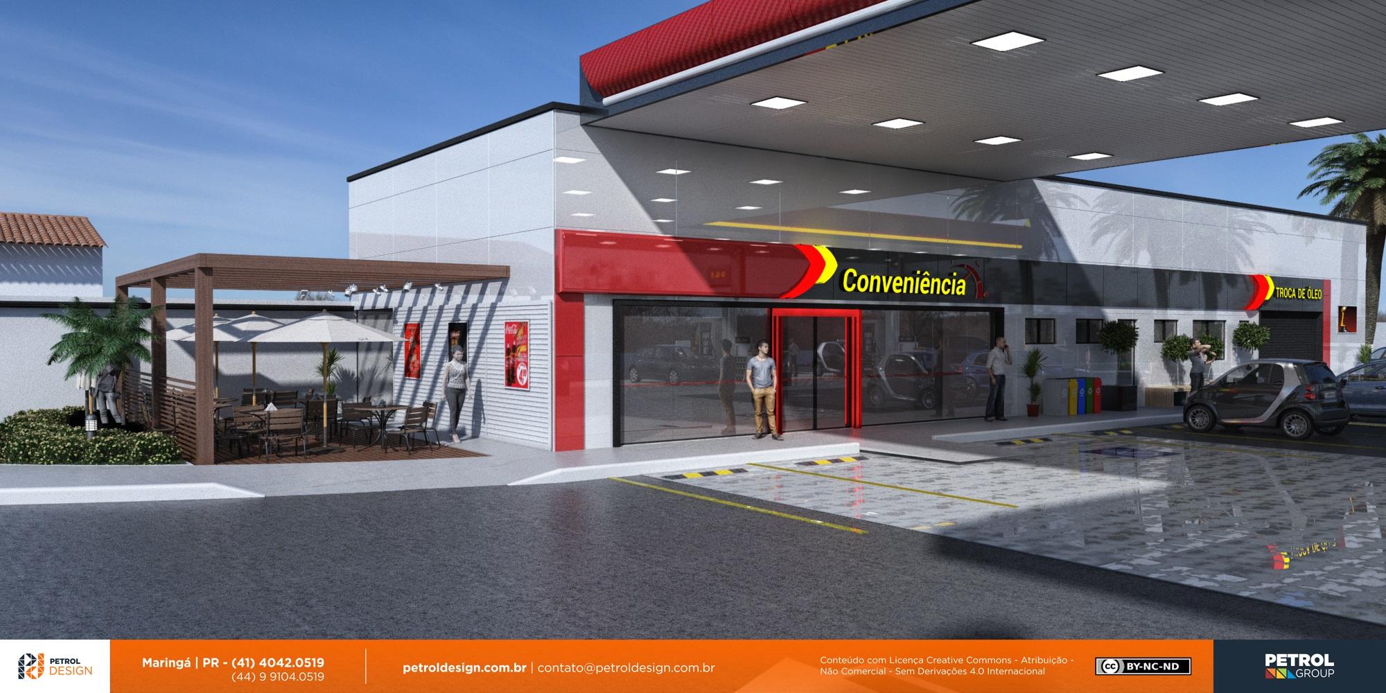 mudar o visual posto de gasolina Itabuna BA