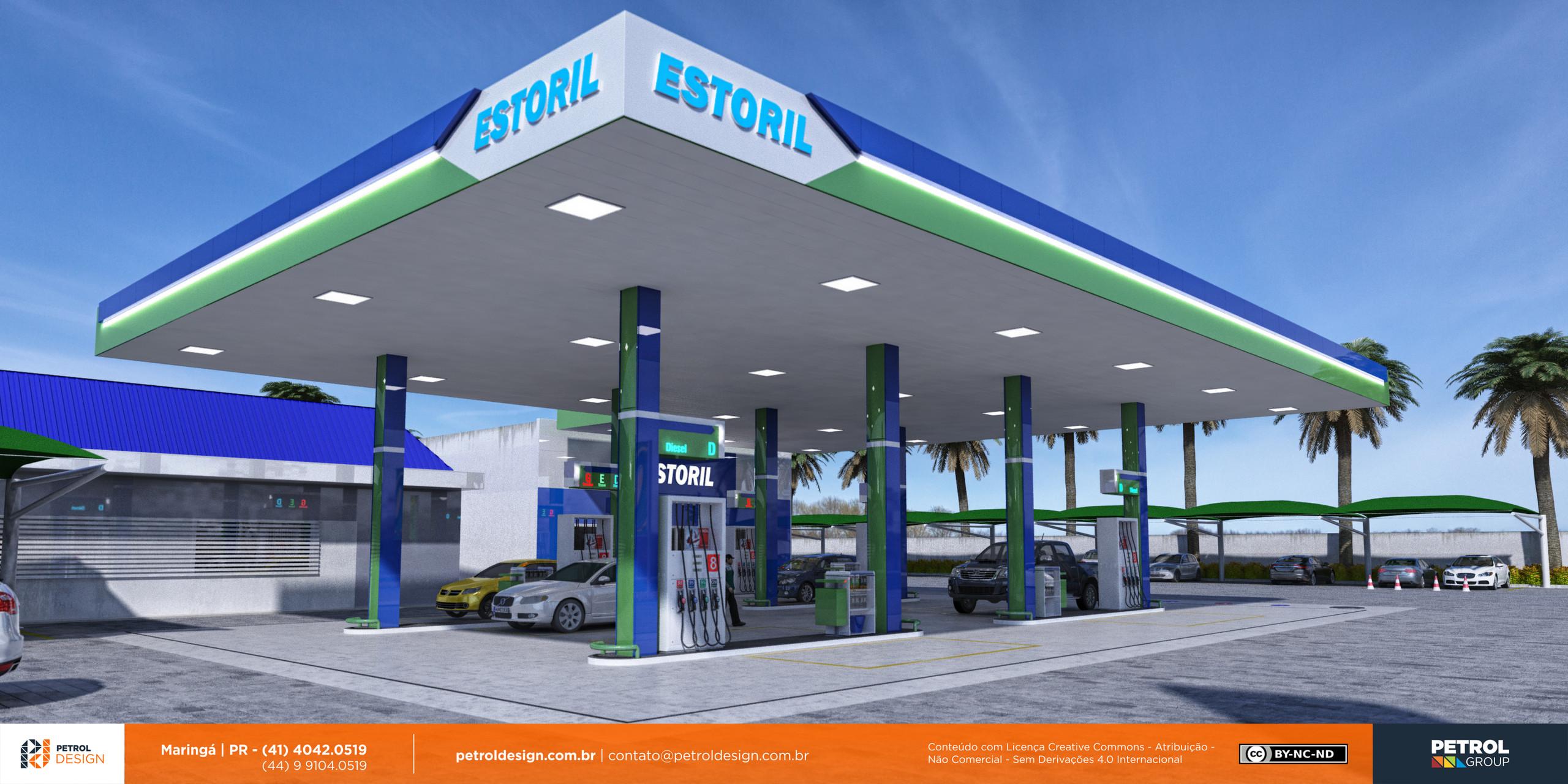 modelo 3d posto de gasolina Sao Gabriel do Oeste MS