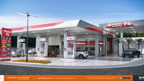 projeto de comunicação visual posto de combustivel Miranda MS