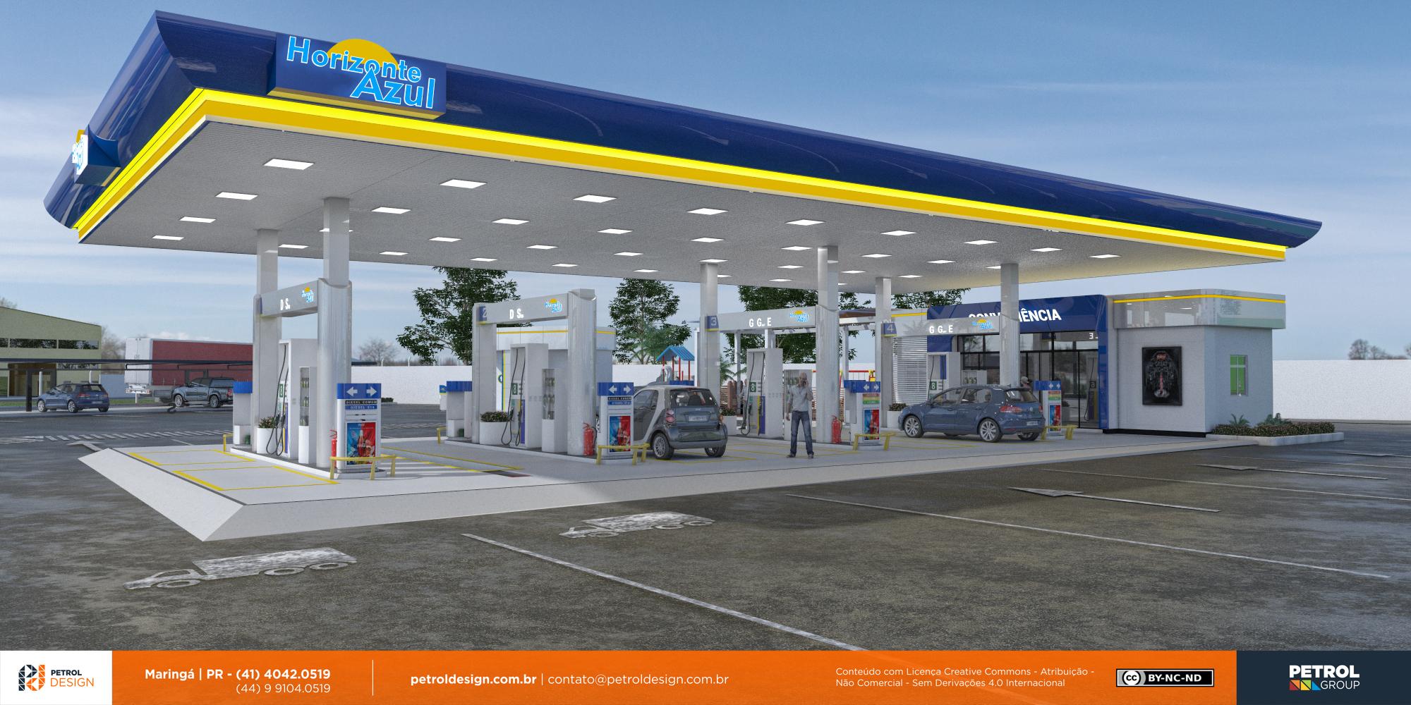 design de cobertura de posto de gasolina Linhares ES
