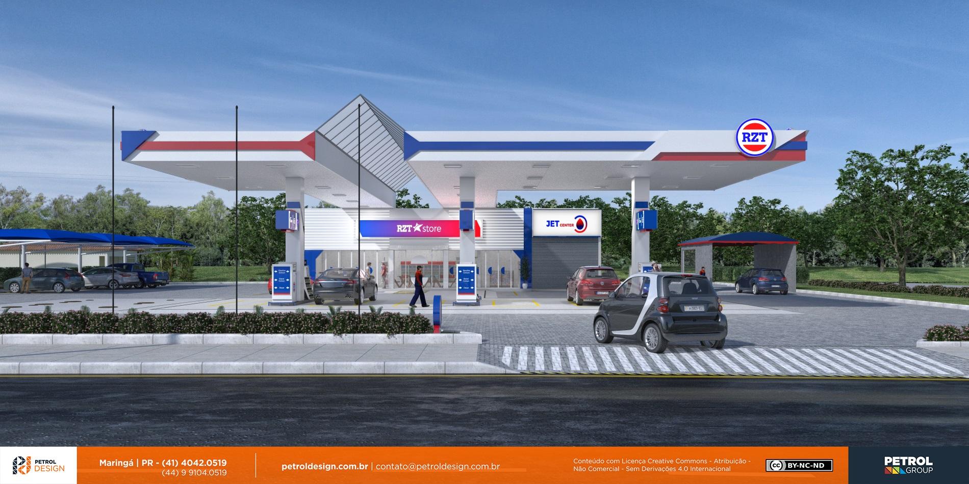 projeto visual posto de gasolina Pomerode - SC