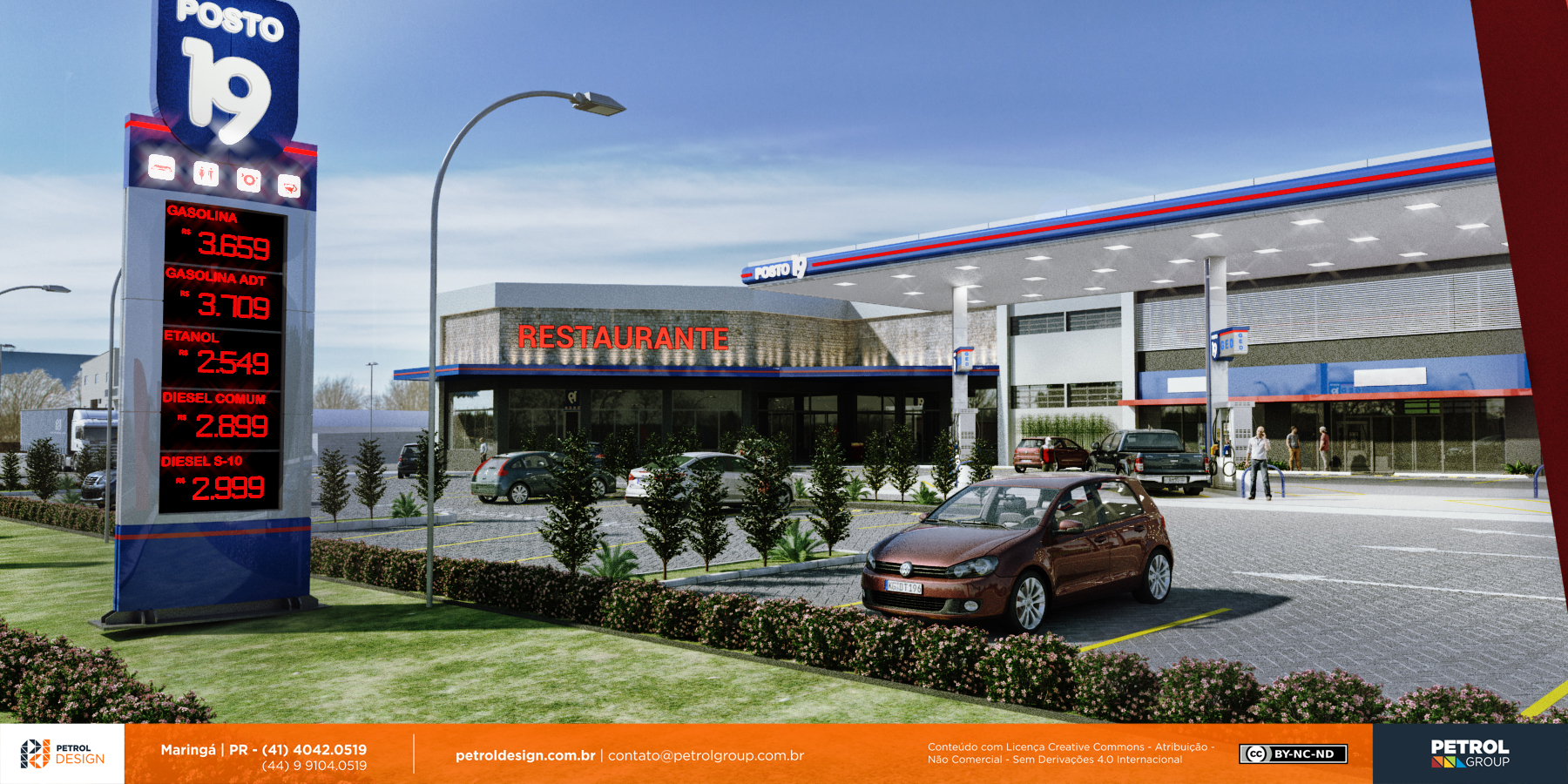imagem comunicação visual posto de combustivel Sorocaba