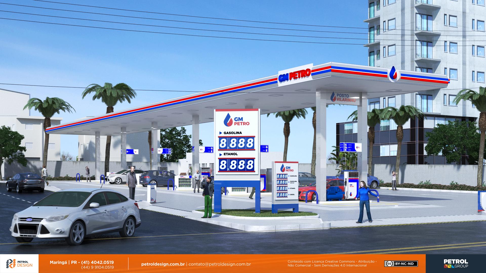 comunicação eidentidade visual posto de gasolina Uberlandia MG