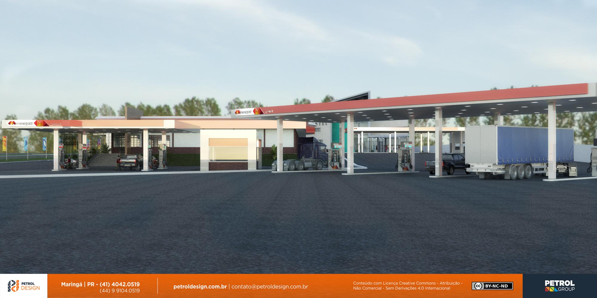 design projeto visual posto de gasolina Luziania GO