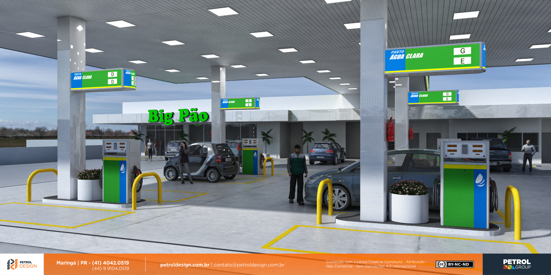 projeto posto de combustivel Divinopolis MG