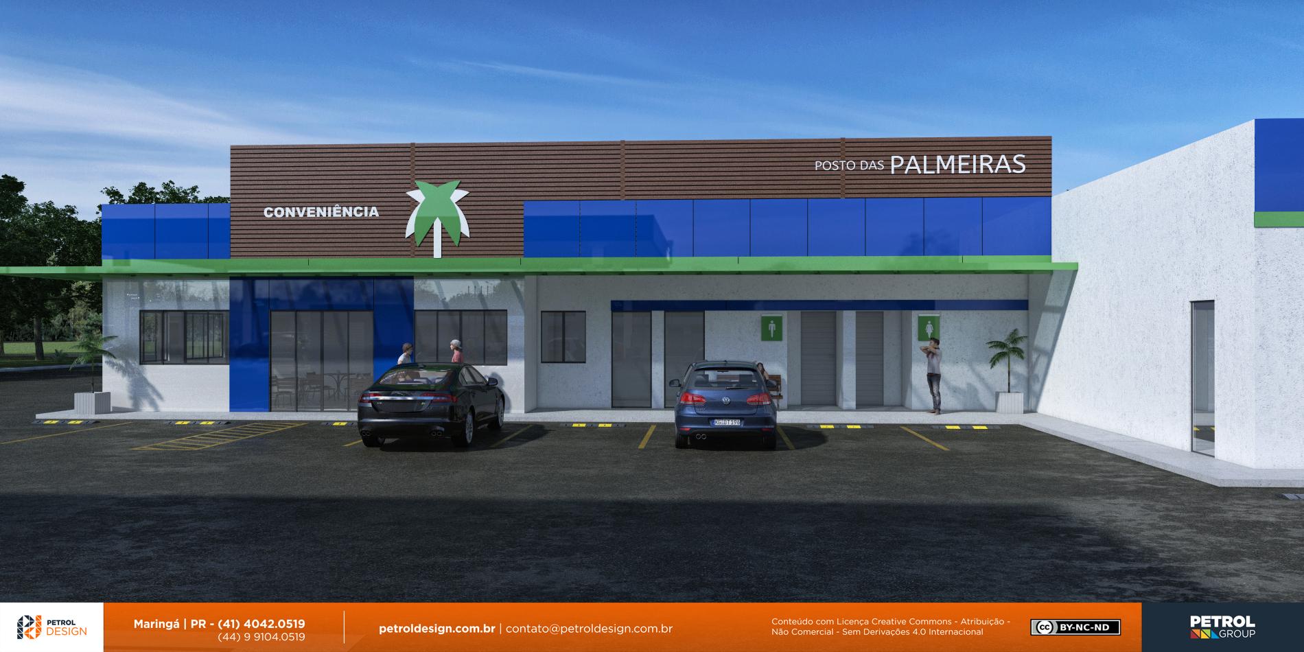 projeto identidade visual posto de gasolina Santa Helena de Goias GO