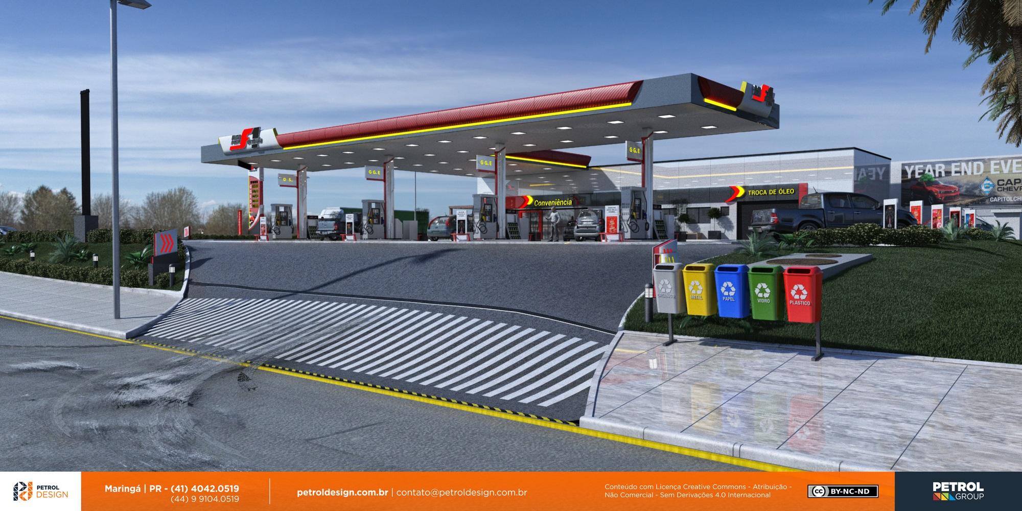 mudar o visual posto de combustivel Camaçari BA