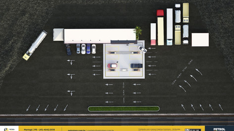 croqui de um posto de gasolina Belo Horizonte MG