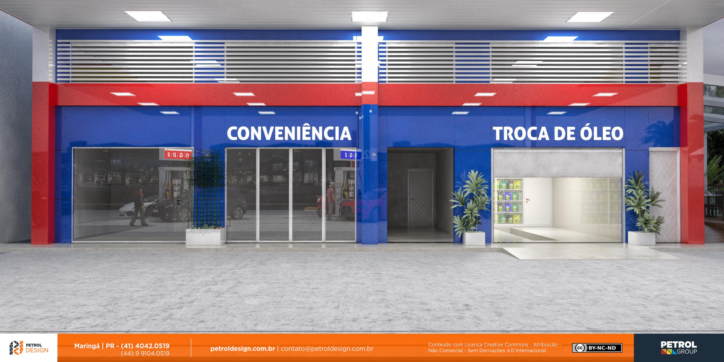 fachada comunicação visual posto de combustivel São Leopoldo - RS