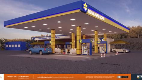 renovar aidentidade visual posto de gasolina Novo Sao Joaquim MT