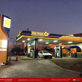 Reforma de fachada e comunicação visual de posto de combustivel