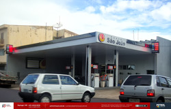 Placa de preço de posto de gasolina