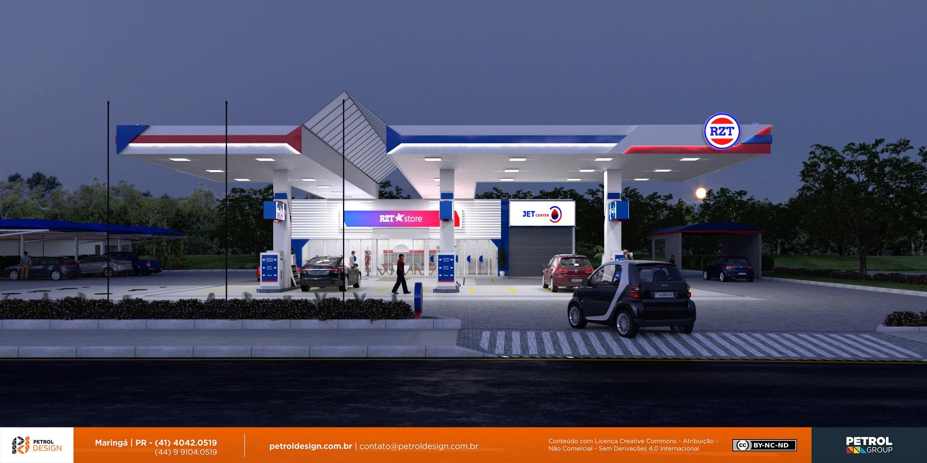 mudar o visual posto de gasolina Pomerode - SC