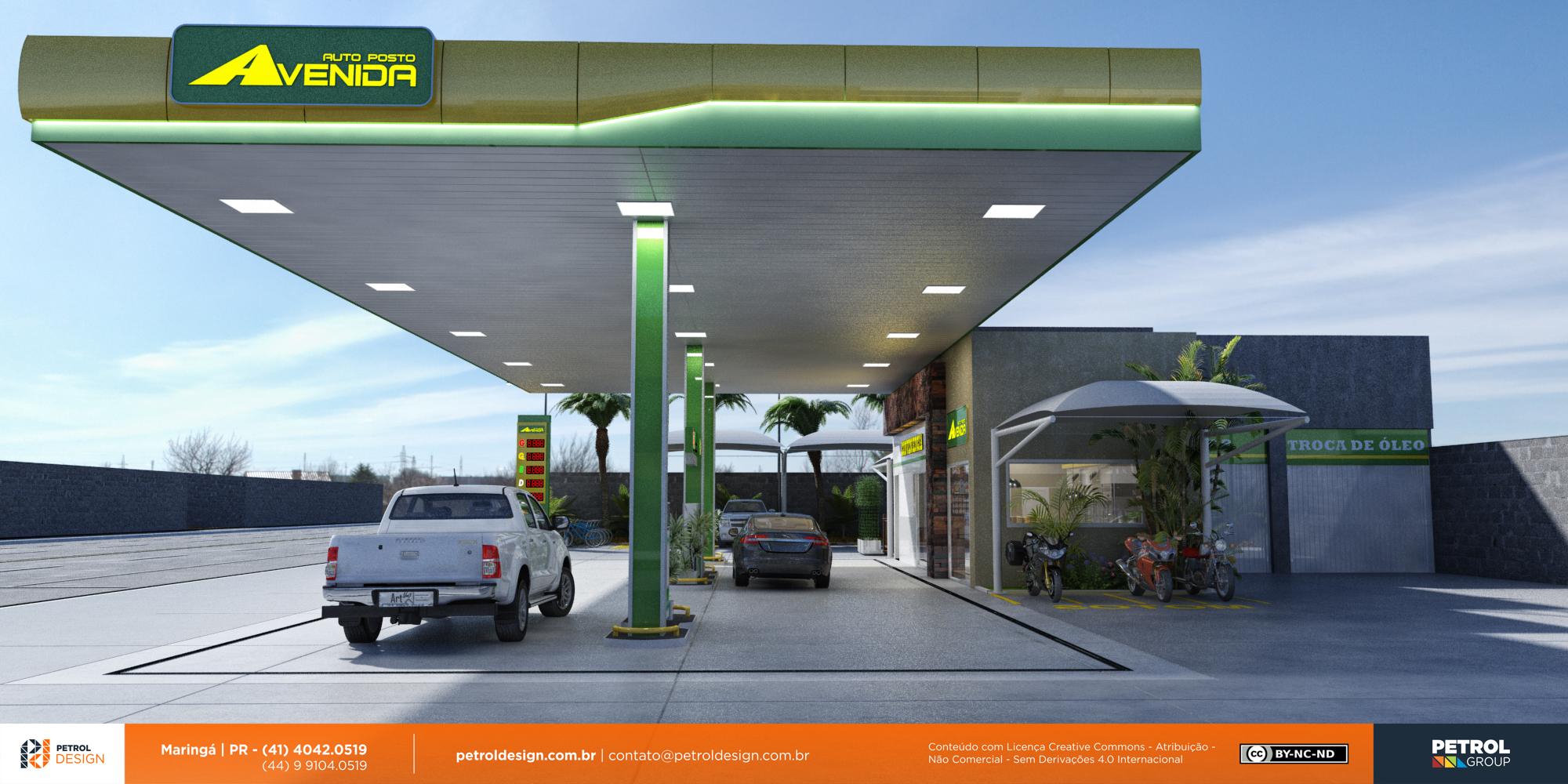 logo marcas 3d posto de gasolina Garça SP