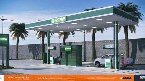 nova imagem comunicação visual posto de gasolina Paranavai PR