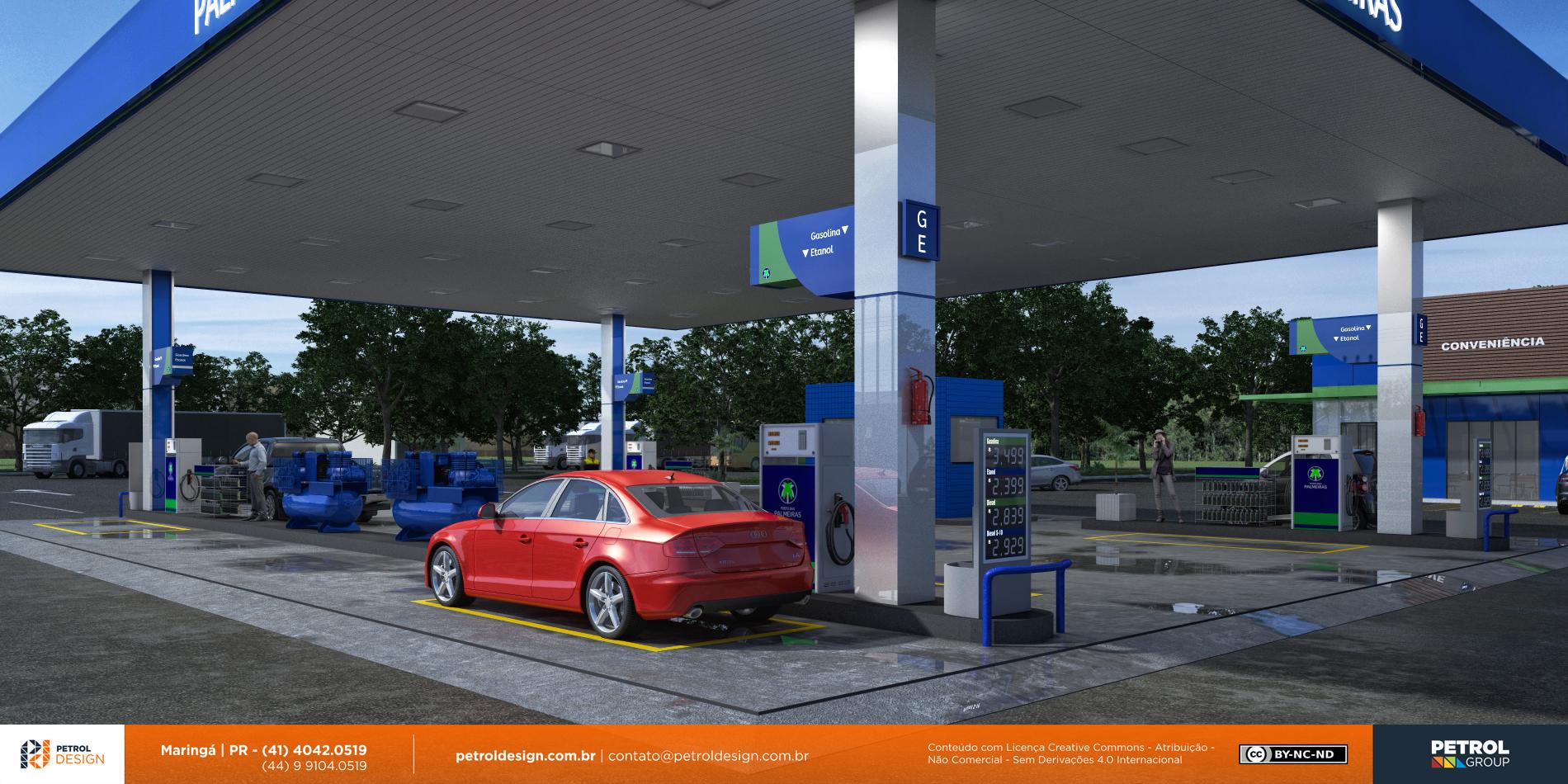 projeto de um posto de combustivel Alto Horizonte GO