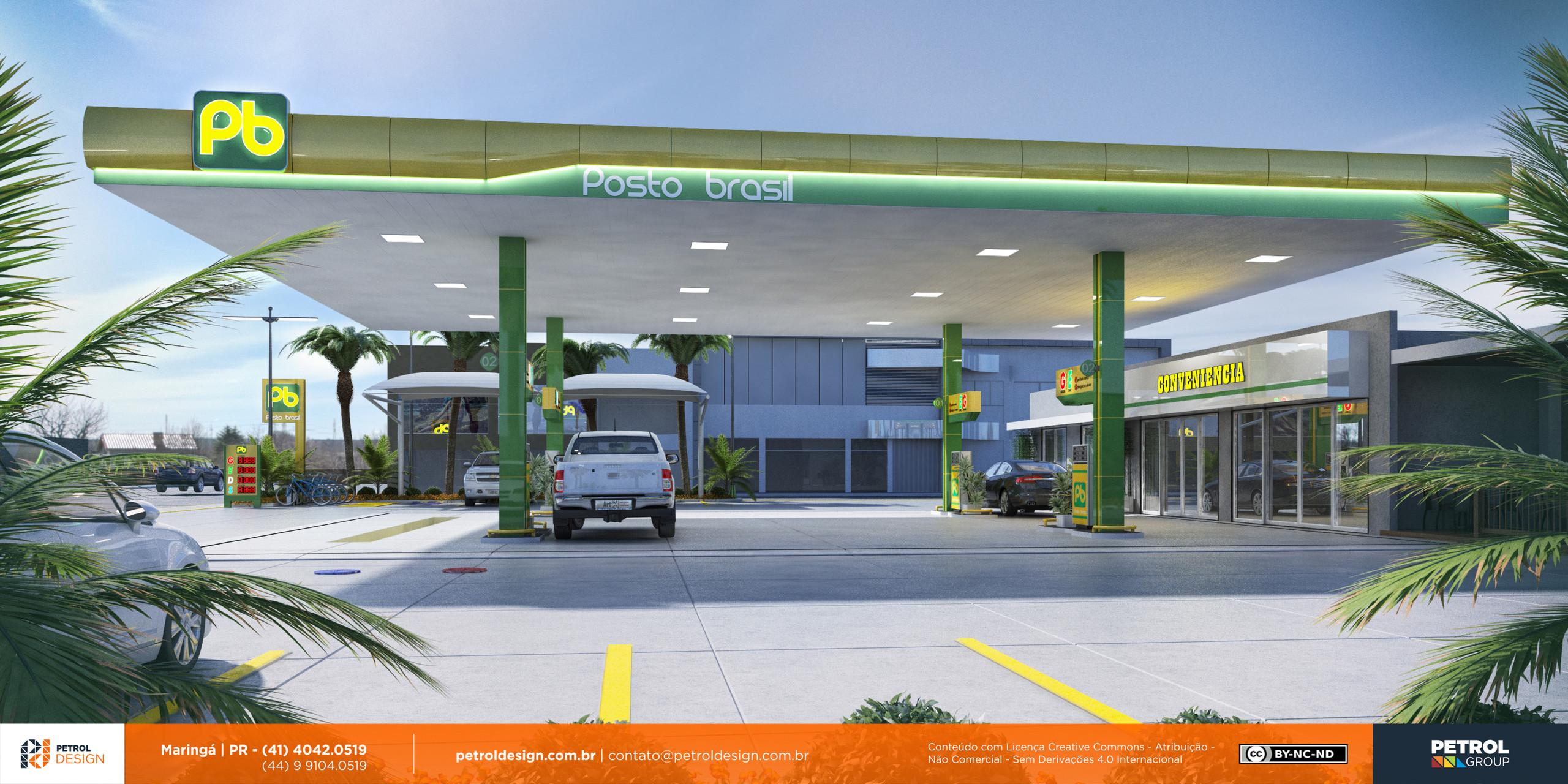 layout posto gasolina Marilia SP